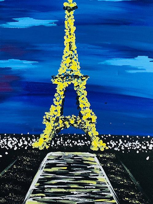 At-Home Paris At Night Canvas Kit
