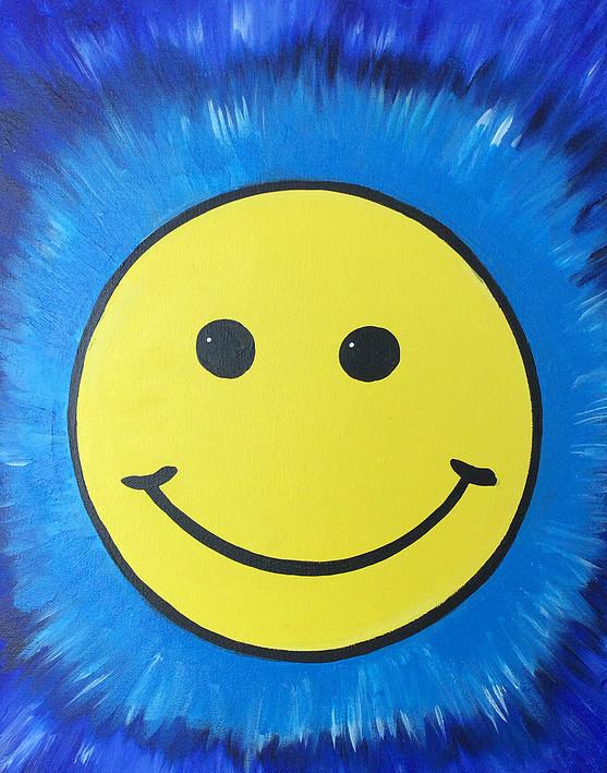 TieDye Smiley Face