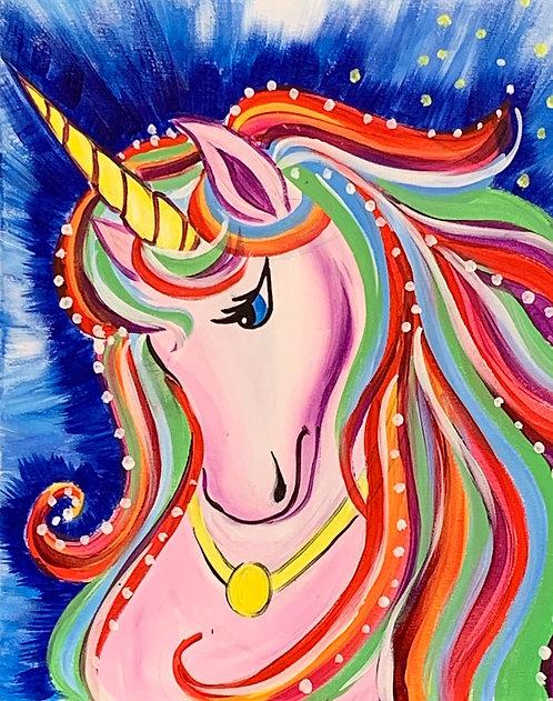 At-Home Unicorn Canvas Kit