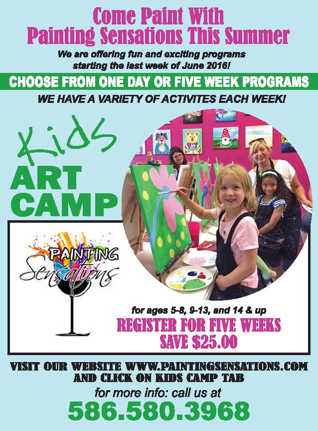 Kids Art Camp Shelby Township, MI