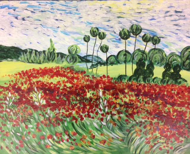 Van Gogh Field of Poppies - 3 Hours