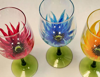 flower glasses