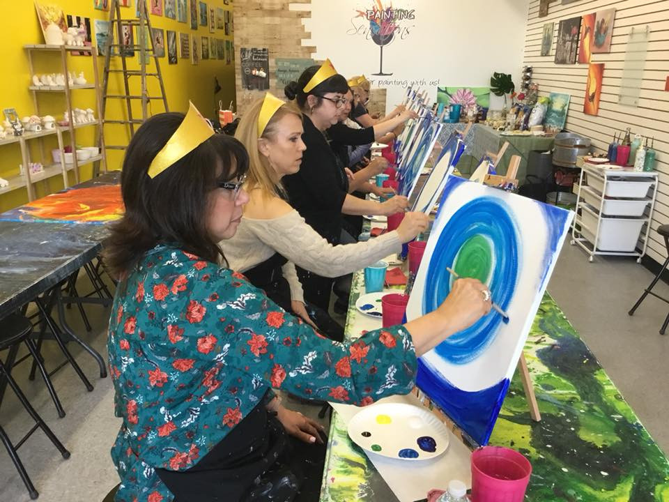Macomb County Wine and Paint Party