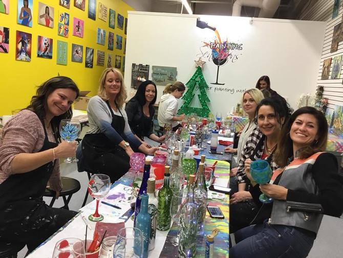 Macomb County Holiday Painting Party