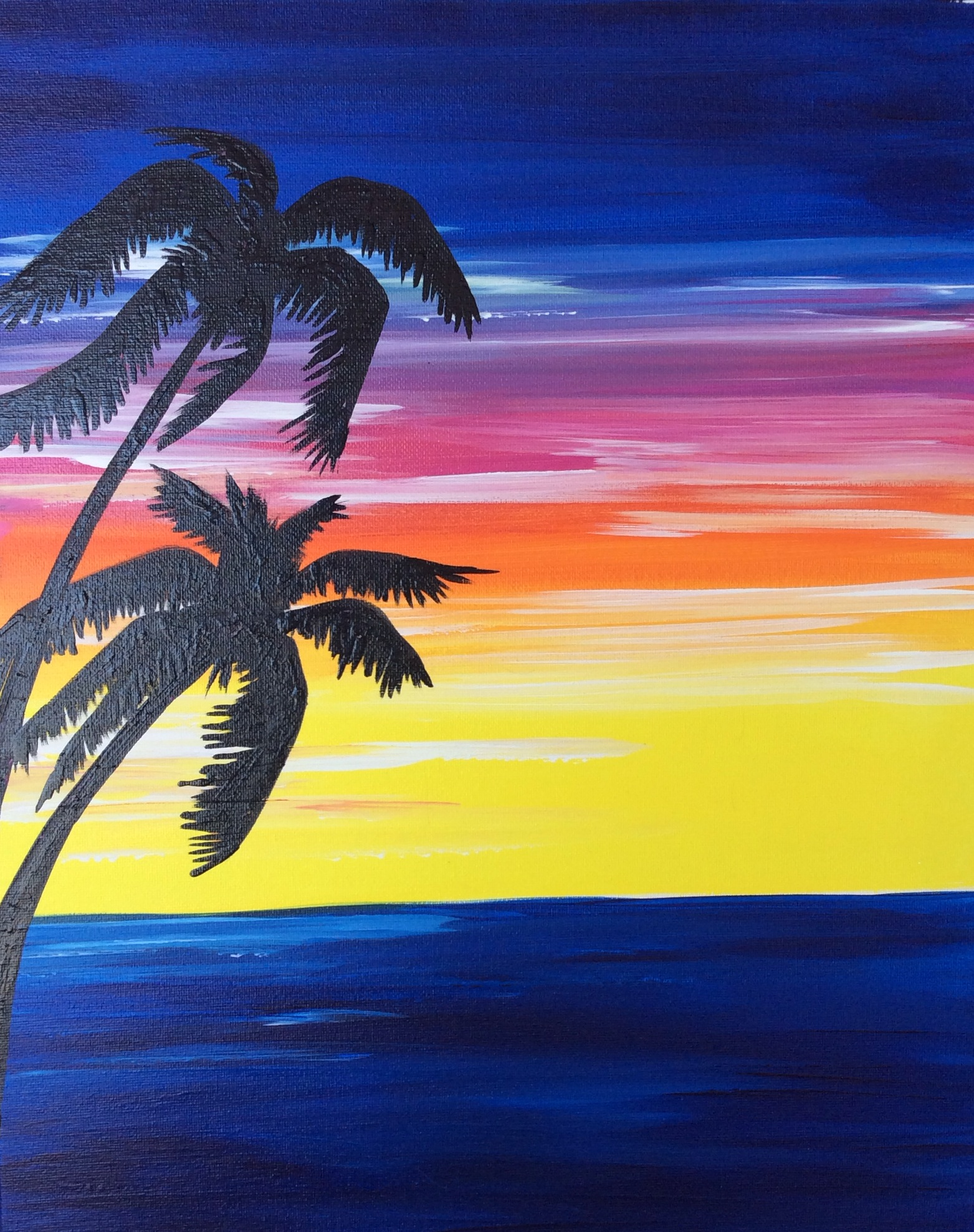 Two Palms Silhouette - 2 Hours