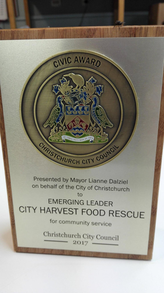 City Harvest Food Rescue Canterbury named Civic Award Winner!