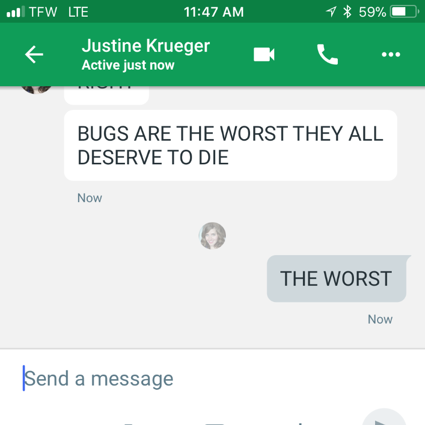 a conversation that occurred the day before this post (+20 years past said bug incident)