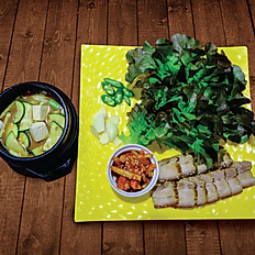 Pork Wrap Meal & Soybean Paste Stew
