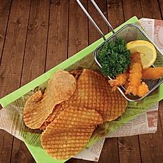 Fried Filefish & Prawn