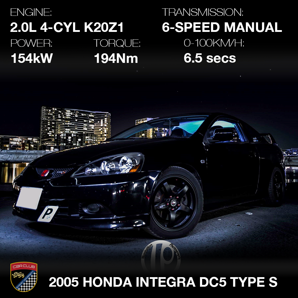 The DC5 Type S epitomizes the boy-racer genre