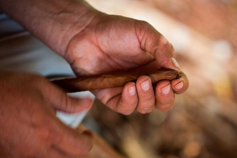 Rolling a Cigar