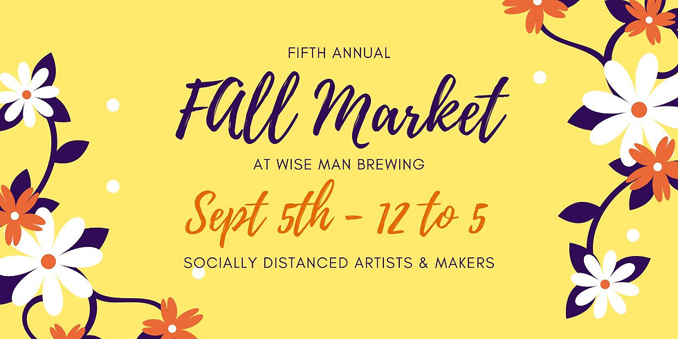 5th Annual Fall Market at Wise Man Brewing