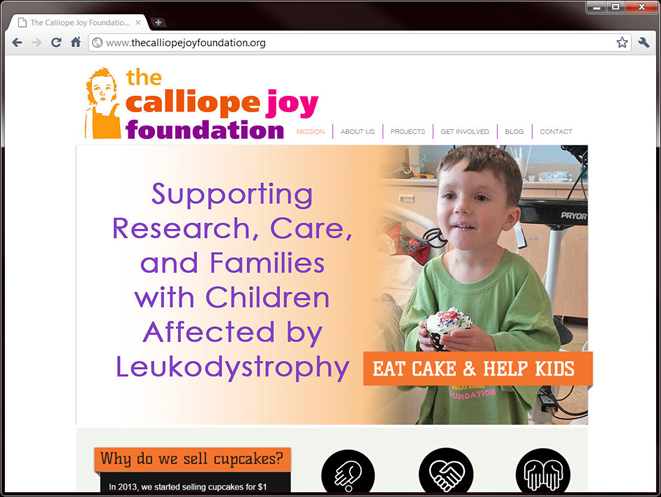 The Calliope Joy Foundation Website