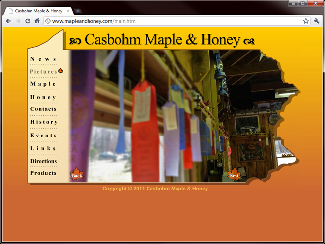 Casbohm Maple Website
