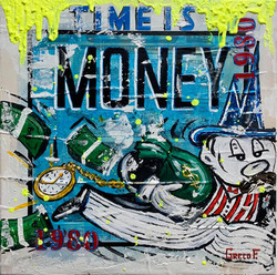 TIME IS MONEY 40X40