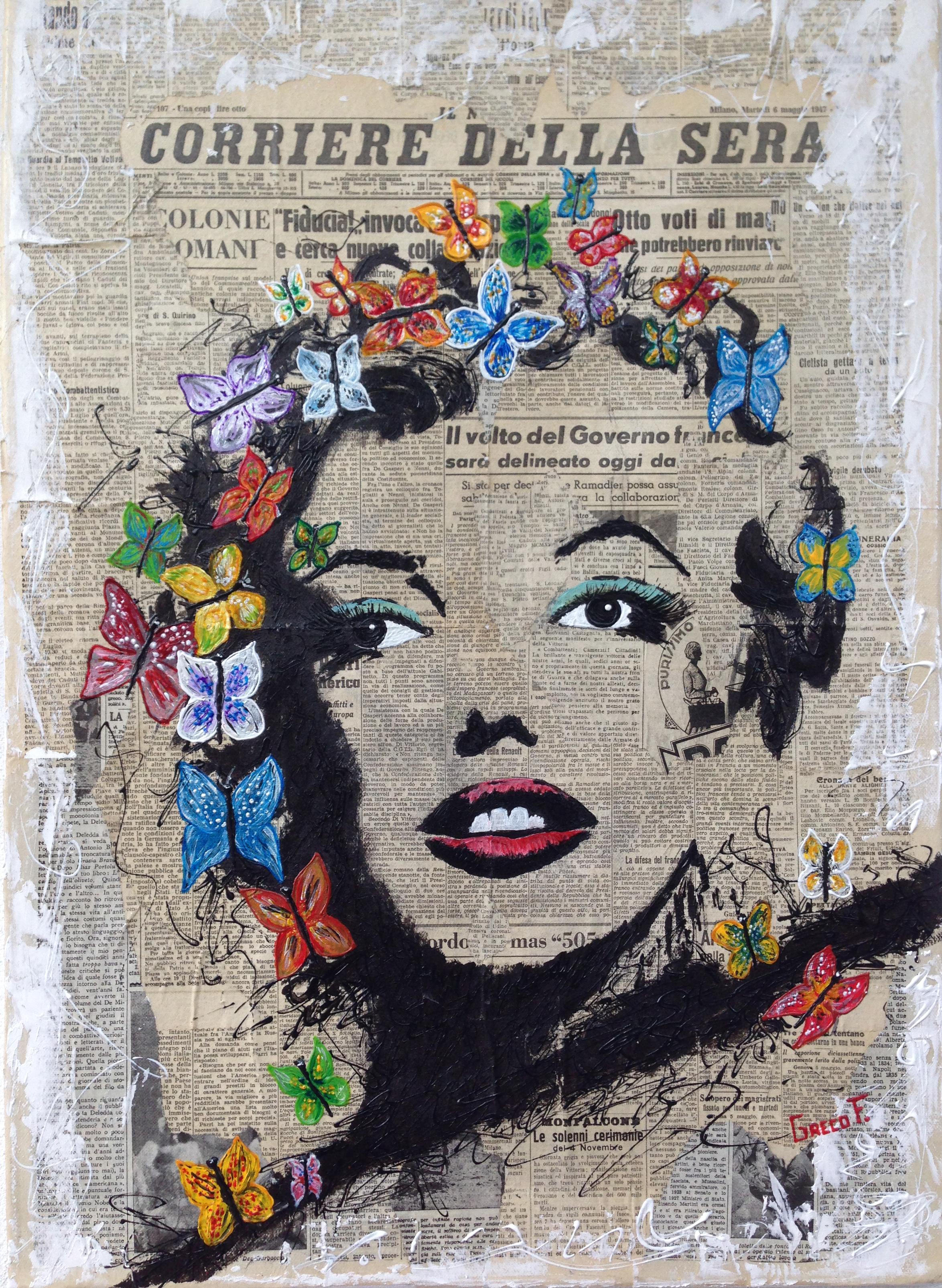 Marilyn -Sguardo di Libertà 50X70