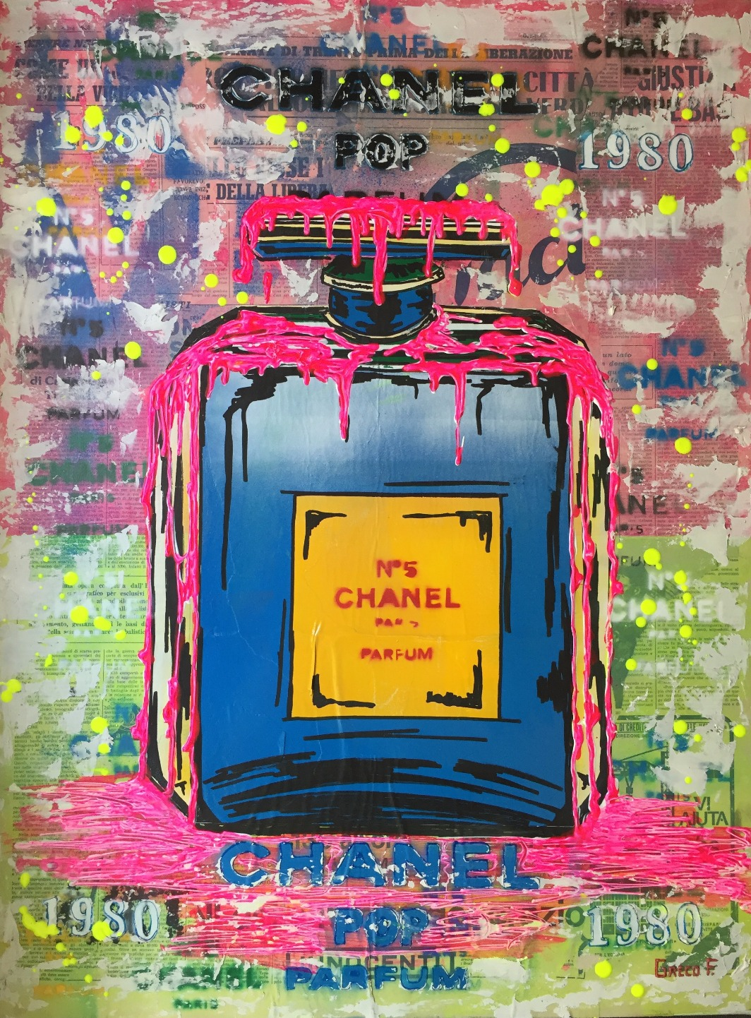 Chanel pop Color 60x80