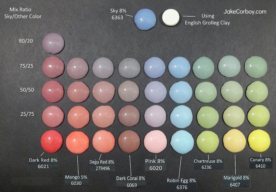 colored porcelain, test tiles, colored porcelain tests, line blending, masion stains, porcelain, cone 6 electric, ceramics, pottery, jake corboy, jakecorboy.com