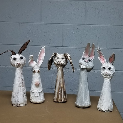 Paper Mache Bunny video class and supply box