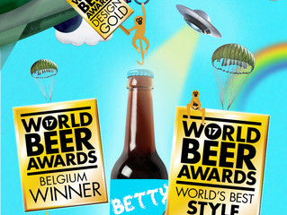 Three Gold Medals for Betty B. at the World Beer Awards!