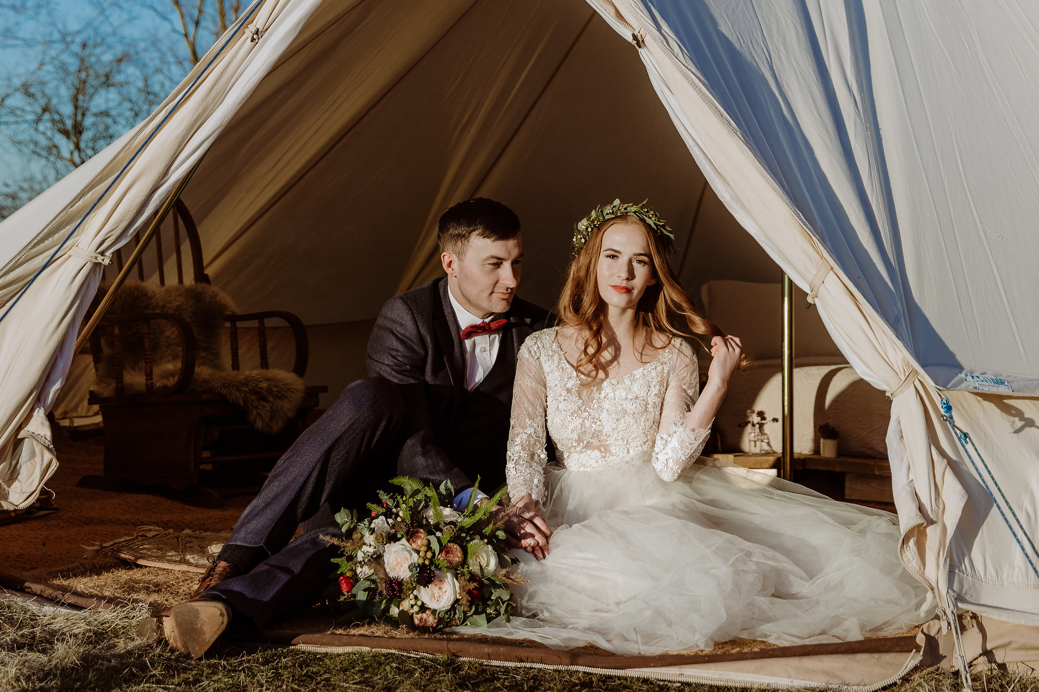Luxury glampsite wedding