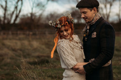 Autumnal Bride and Groom