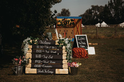 Order of the day - Wedding sign
