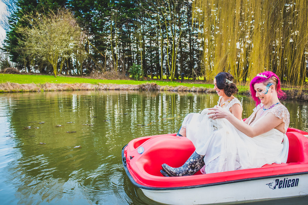 Wedding pedalos
