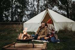 Firepit by the Bell Tent