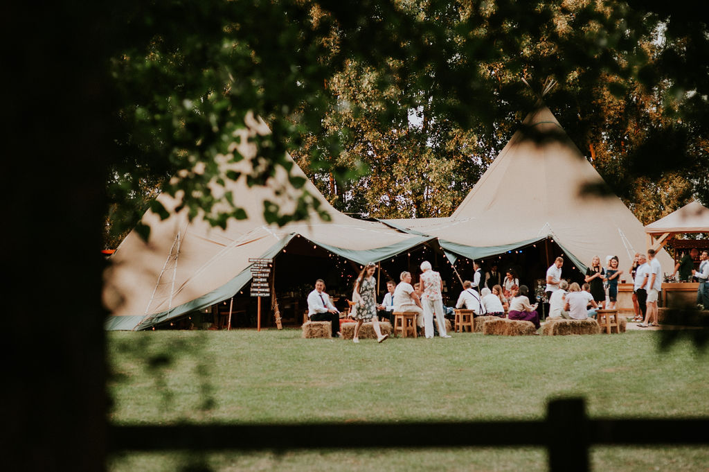 Guests enjoying the wedding