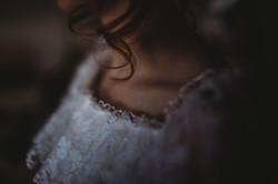 Neckline of Brides dress
