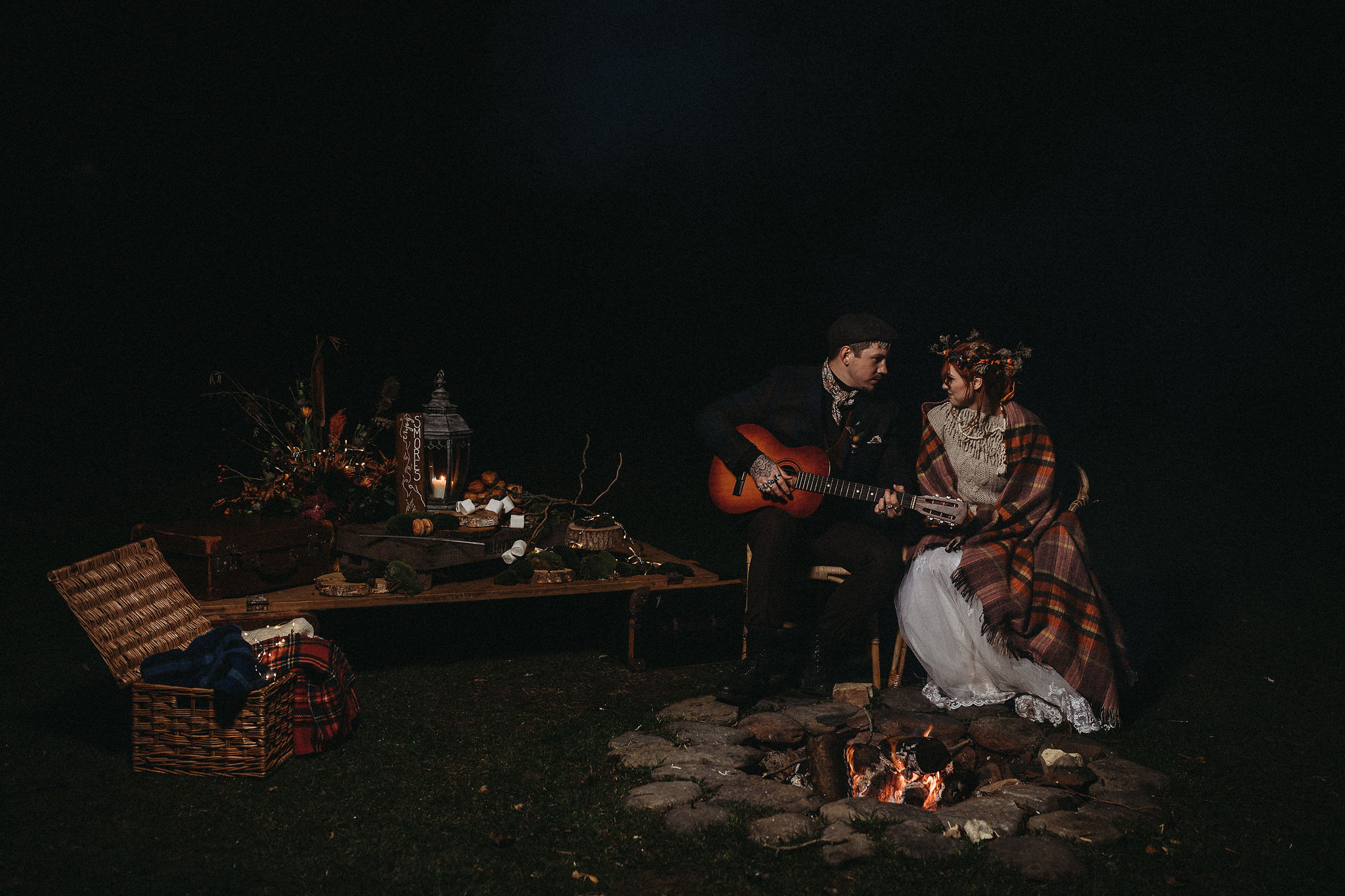 Wedding by the campfire