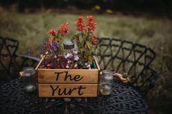 Wedding yurt sign