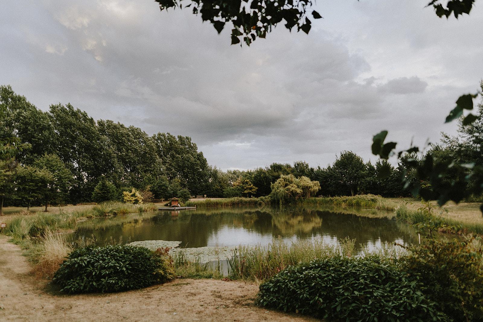Lake at wedding venue