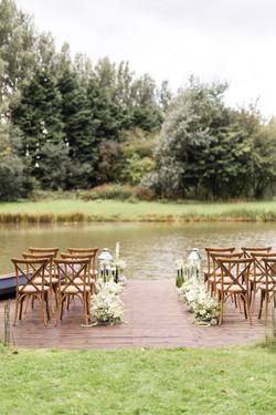 Wedding by lakeside