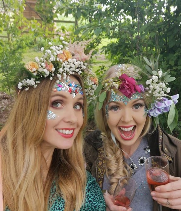 Floral crowns and glitter hen do