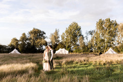 Bride and Groom in Glampsite