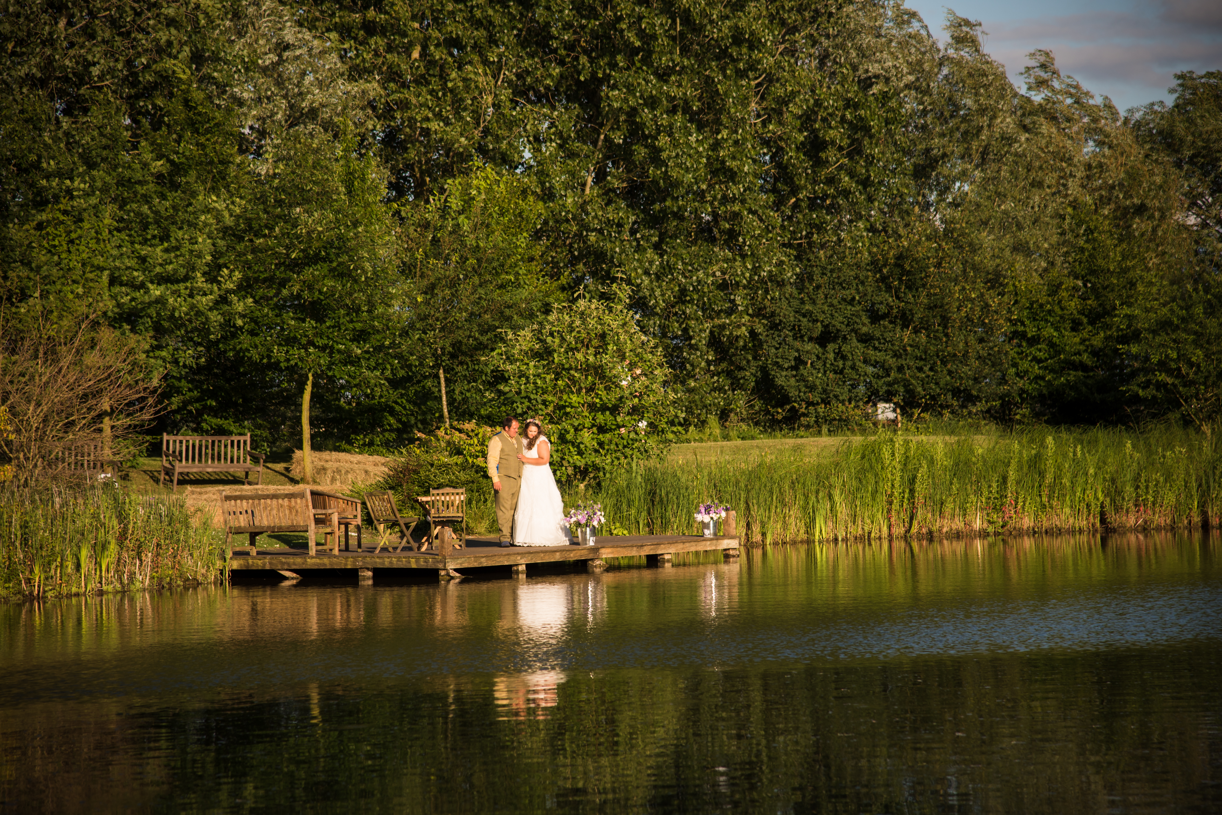Bride & Groom by the Lake