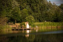 Bride & Groom by the Lake