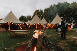 Wedding log fire