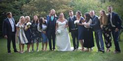 Bride, Groom & Friends
