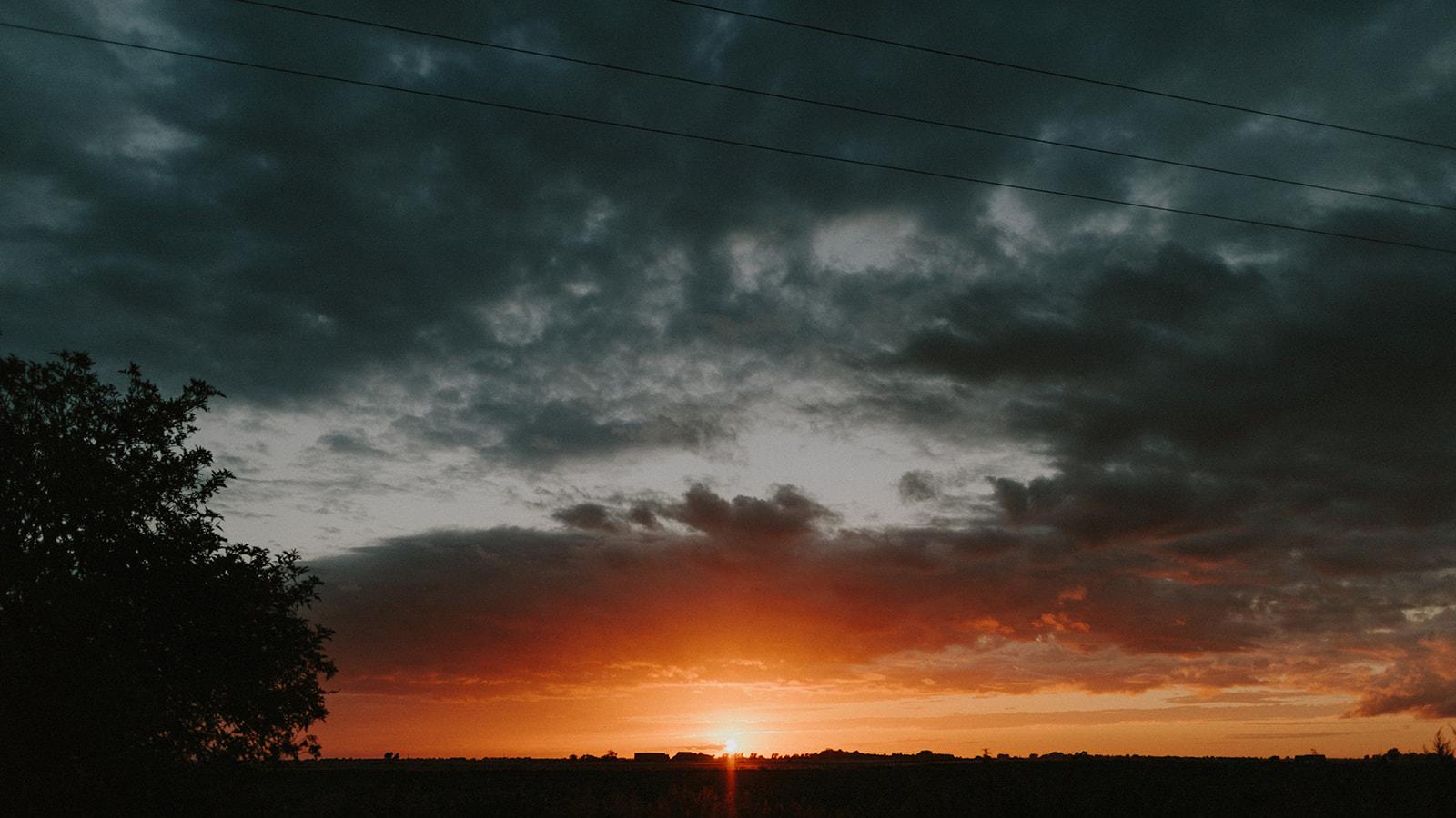 Sunset at Horsley Hale Farm