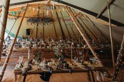 Festival wedding tipi