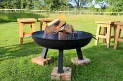 Glamping Firepit & Stools