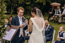 Bride & Groom at ceremony