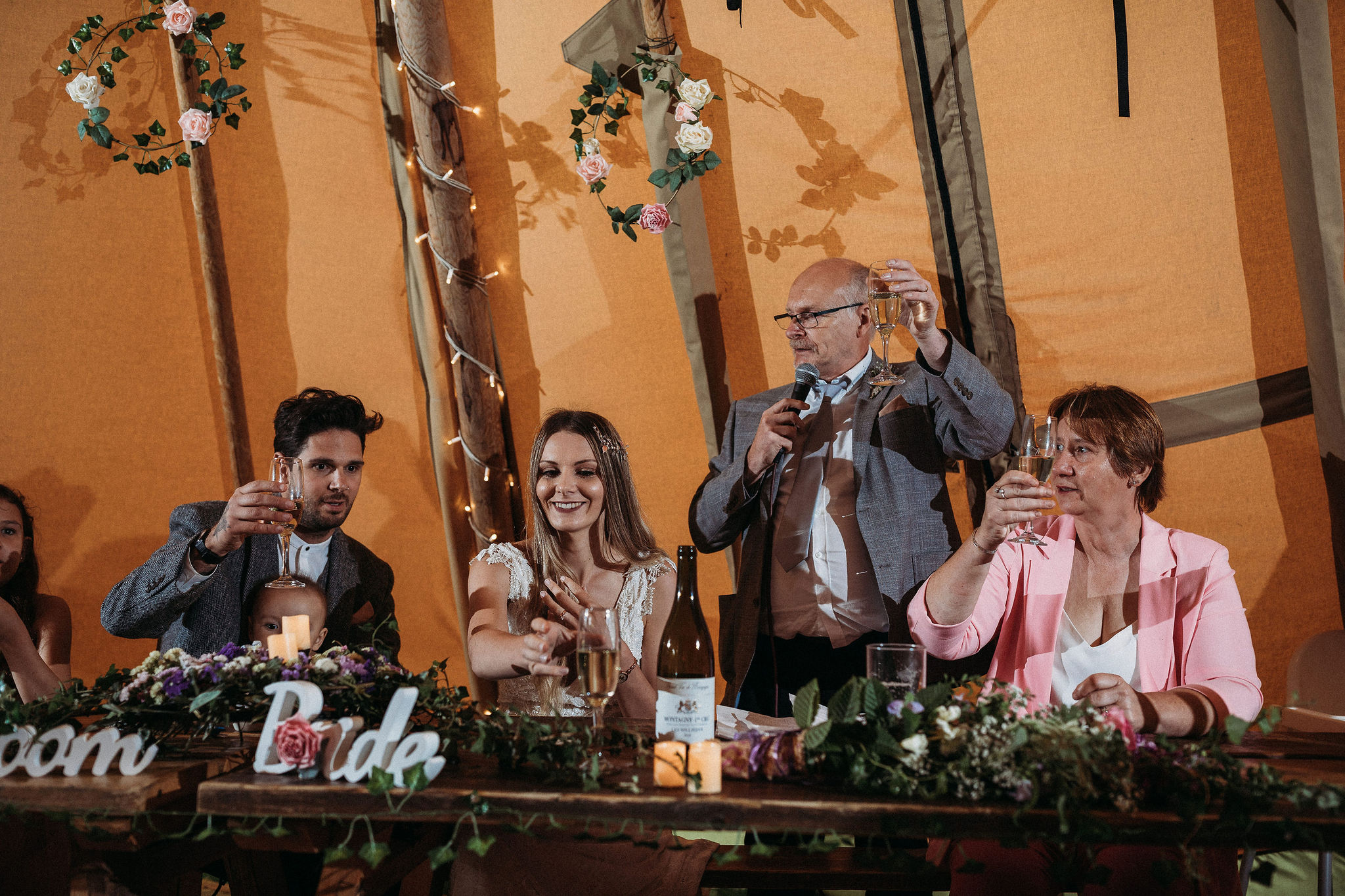 Wedding Speeches in tipi