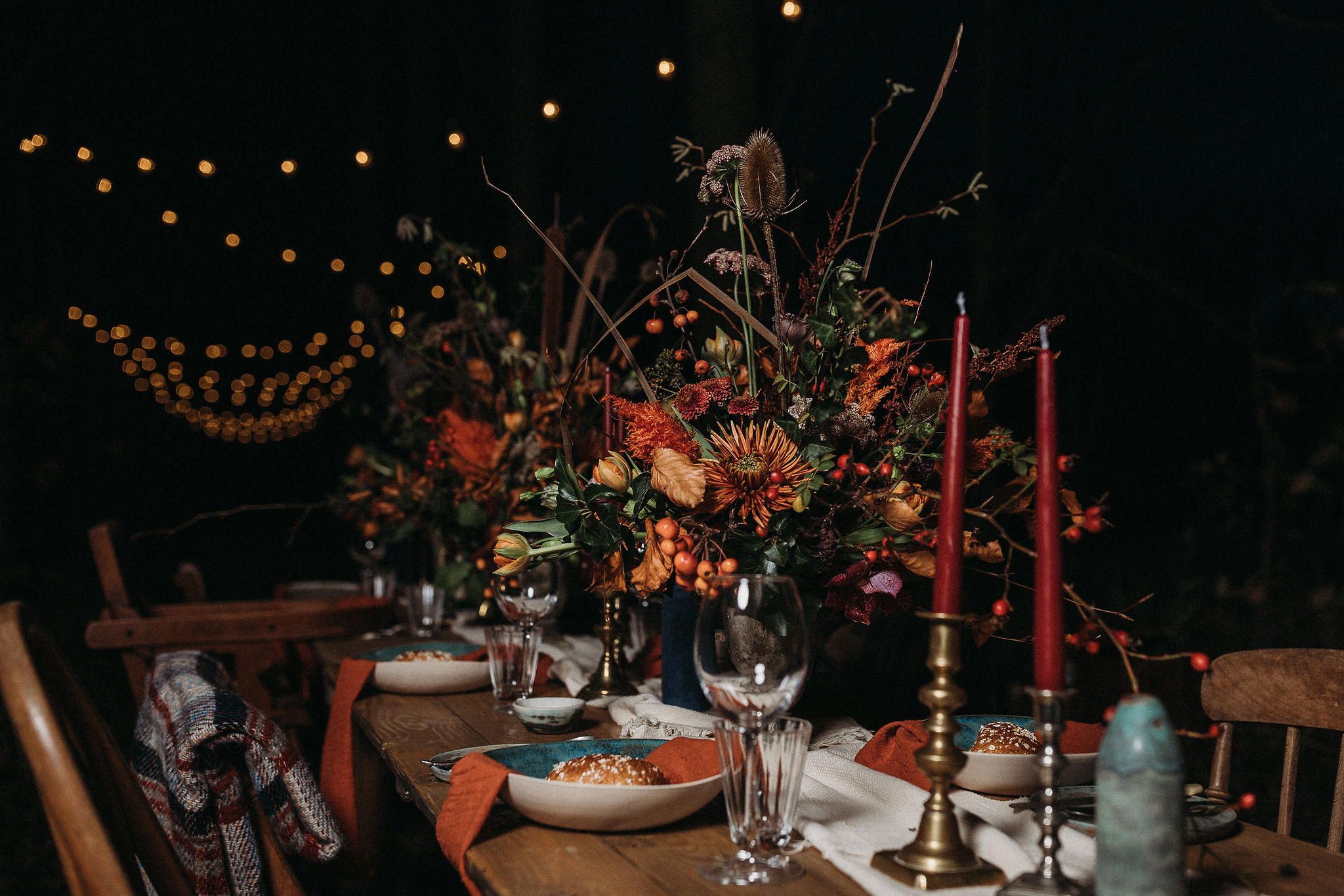 Autumnal wedding table