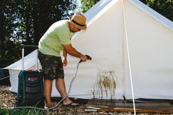 Cleaning Tents