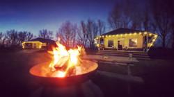 Safari Lodges at Night