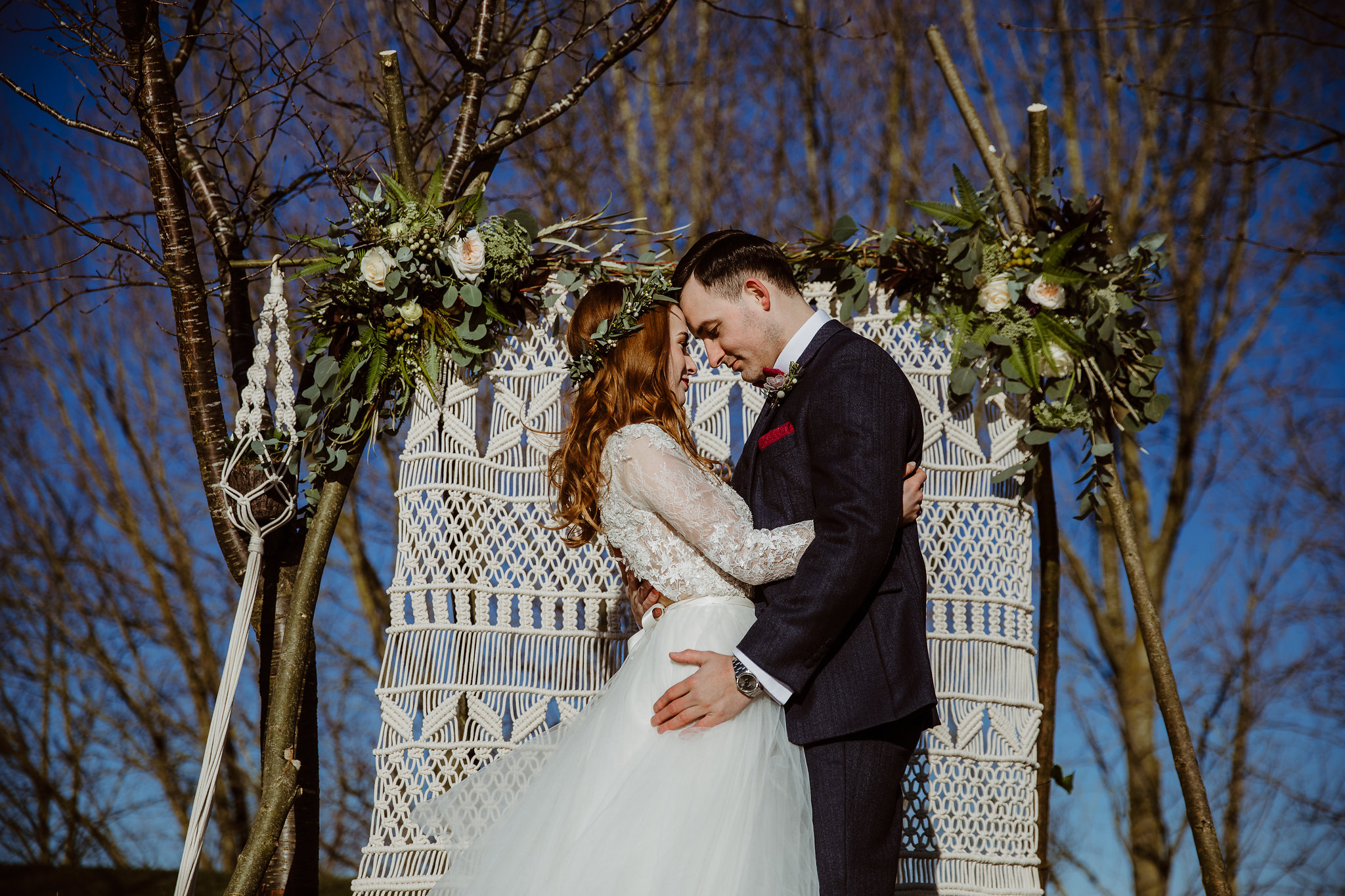Sunny winter wedding